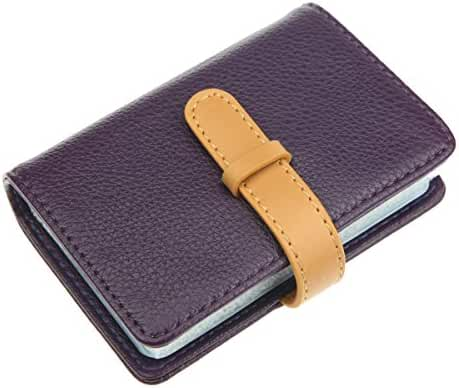 DEEZOMO PU Leather Credit Card Holder with 26 Card Slots